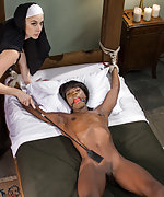 Shameless nun gets roped and punished