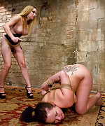Slave girl trained to service sadistic couple