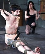 Tightly roped, gagged, punished and teased