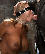 Hot milf tightly bound and sucking cock