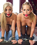 Two blonds get lesbian punishment and multiple orgasms