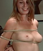 Stripped, roped, ball-gagged and vibed
