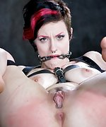 Strapped, chain-gagged, humiliatingly exposed