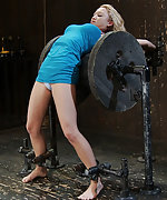 Super cute blonde metal bound over a spool