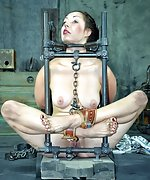 Cuffed and roped, humiliated and trained