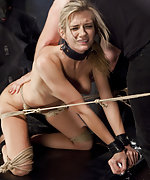 Roped and trained with a predicament doggie fuck