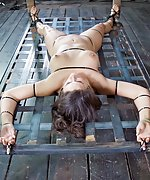 Zipped, cuffed, gagged and hard punished