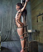 Roped, gagged, suspended, waxed, tormented