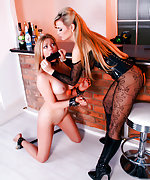 Blackmailed blond gets stripped, bound, abused and used