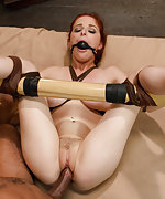 Penny getting rough sex in hard bondage
