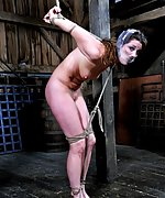 Beauty gets stripped, roped, gagged and used