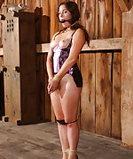 Cutie roped, dildoed and humiliatingly trained