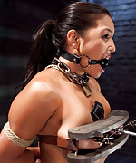 Metal bondage, extreme training, clamps, dildo, vibrator