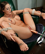 Ass spanked, tied to a chair, machine fucked and vibed