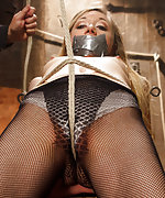 Hot blond taken in fantasy role play bondage scenario