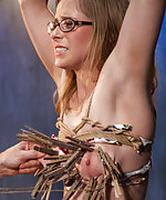 Slut anal trained, roped, pegged, chained