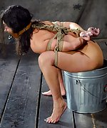 Roped, gagged and humiliatingly trained
