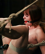 Her first time tied up & tormented