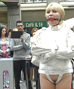 Japanese whore bound and shamed in public