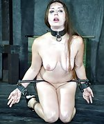 Beauty gets cuffed, wrapped and gagged