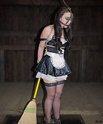 Pretty maid humiliatingly trained with hard metal devices