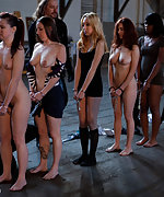 Seven slavegirls are shacled and tested