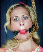 Pretentious model roped, gagged, humiliatingly trained