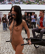 European beauty is stripped, bound and fucked
