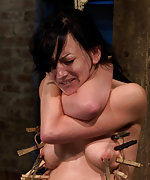 Zippered, caned, tortured with brutal orgasms, crotch roped