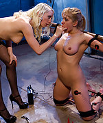 Tightly roped and electrotortured by mistress