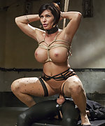 Nipple predicament bondage and hard slave training