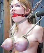 Rope bondage, foot torture, pussy teasing