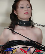 Chained, stripped, whipped, pegged and dildoed