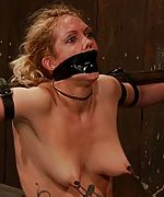 Two friends trapped, bound and made to cum