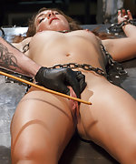 Shop slut gets a bondage lesson from her boss